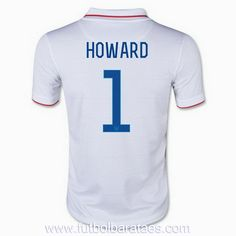 nueva camiseta de Howard Estados Unidos 1st 2014
