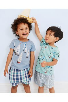 Buy Multi Vintage Boat Short Pyjamas Two Pack (9mths-8yrs) from the Next UK online shop