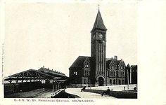Milwaukee Wisconsin WI 1905 Chicago Northwestern Railroad Depot Vintage Postcard…