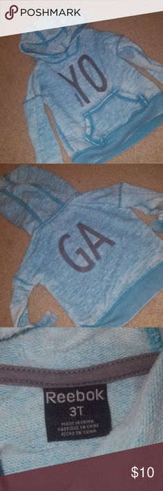 3t Reebok hoodie This hoodie is so cute!! It's fairly thin, but it's matches almost perfectly with the blue Reebok hoodie I have in XL! You and your little one can match! Reebok Jackets & Coats