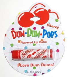 Dum Dum Pops Cherry Flavored Lip Balm Lip Products, Beauty Products, Funny Lips, Bonne Bell, Chapstick Lip Balm, Lip Sticks, Love Lips, Best Lip Balm, Smooth Lips