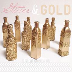 Glitterize! This would be easy to do yourself but have a big impact.