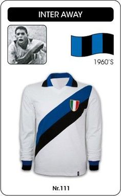 Inter Milan away kit in the 1960s.