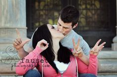 Such a cute engagement picture.