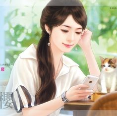 chinese girl y Girl Cartoon Characters, Cartoon Girl Images, Cute Cartoon Girl, Cool Anime Girl, Anime Art Girl, Beautiful Girl Drawing, Cute Girl Drawing, Beautiful Fantasy Art, Beautiful Anime Girl
