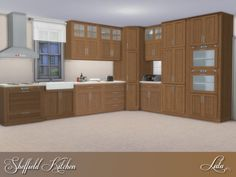 The Sims Resource: Sheffield Kitchen by Lulu265 • Sims 4 Downloads