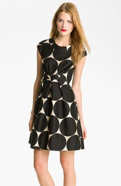 kate spade polka dot flare dress