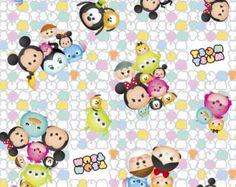 Disney Fabric: Disney Tsum Tsum Mickey and friends by Angelfabric