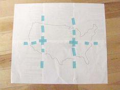 diy project: halligan's american travel map | Design*Sponge