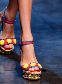 Woven Sandals Trend for Spring Summer 2013.  Dolce & Gabbana Spring Summer 2013.   #shoes  #trends