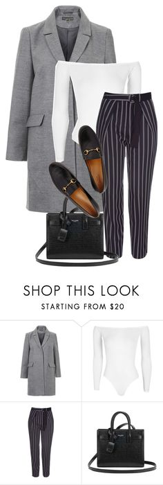 """""""Untitled #1406"""" by morggz ❤ liked on Polyvore featuring Topshop, Boohoo, Yves Saint Laurent and Gucci"""