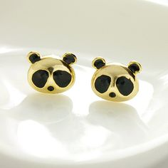 Cute panda earrings Meng goods