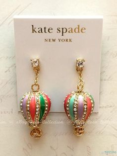 $78 NWT Authentic Kate Spade Up Up and Away Hot Air Balloon Drop Dangle Earrings #KateSpade #DropDangle