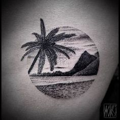 hawaii tattoo, hibiscus, beach, dolphin - Google Search