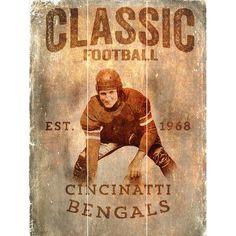 Fan Creations NFL Vertical Classic Football Graphic Art Plaque NFL Team: