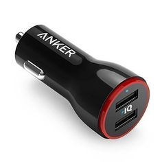 Anker 24W Dual USB Car Charger PowerDrive 2 for iPhone 7 / 6s / Plus iPad Pro / Air 2 / mini Galaxy S7 / S6 / Edge / Plus Note 5 / 4 LG Nexus HTC and More