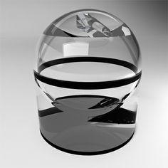 Beautiful Glass Pencil Sharpener Design by Mac Funamizu | Tuvie