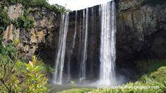 Cachoeira do Rio dos Pardos na divisa entre Porto União e Matos Costa - Santa Catarina - Brasil.