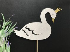 Swan Cake Topper or Cupcake Topper Swan Cake/Swan Topper/Ugly