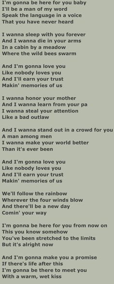"Lyrics to: ""Making Memories of Us"".              By: Keith Urban."