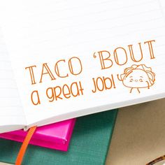 Funny Taco Bout A Great Job Teacher Stamp, Grading Stamps, School Stamp, Classroom Rubber Stamp, Gift for Teacher Teachers love creative ways to get their students attention. Our Taco Bout A Great Job! stamp is sure to become a class favorite!