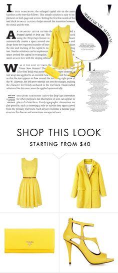 """Yellow diva!"" by ash-nz on Polyvore featuring Yumi, Prada, Pierre Balmain, women's clothing, women's fashion, women, female, woman, misses and juniors"