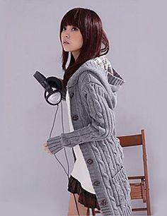 [BlackFridaySale]女性のフード付きロングカーディガン – JPY ¥ 2,249