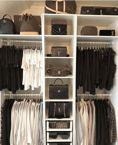 Walk In Closet Ideas - Do you need to whip your little walk-in closet into shape? You will certainly enjoy these 20 incredible tiny walk-in closet ideas as well as transformations for some . Closet Bedroom, Master Closet, Walk In Closet, Bedroom Decor, Interior Design Career, Decor Interior Design, Room Interior, White Wardrobe, Closet Designs
