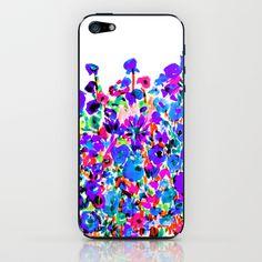 Flower Fields Blue iPhone & iPod Skin by Amy Sia - $15.00