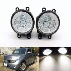 27.45$  Buy here - http://aisxw.worlditems.win/all/product.php?id=32792832445 - 2pcs Car Styling Round Front Bumper LED Fog Lights High Brightness DRL Day Driving Bulb Fog Lamps For DAIHATSU matter mpv-36 M4