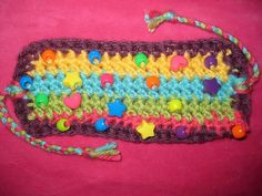 Rainbow Cuff Bracelet or Cozy