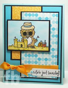 SC229 Life's Just Beachy by StampOwl - Cards - by JessicaLynnOriginal Brentwood Owl Rubber Stamps http://www.jessicalynnoriginal.com/category_s/72.htm