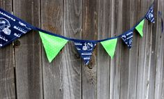 SEATTLE SEAHAWKS Fabric Decorative Banner by twochickscreate, $18.00