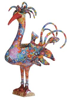a horny bird looking for a girl freind Paper Mache Projects, Paper Mache Clay, Paper Mache Sculpture, Paper Mache Crafts, Bird Crafts, Paper Clay, Paper Art, Birdhouse Craft, Paper Mache Animals