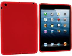 """Amazon.com: Fire Truck Red {Simple Matte Plain} Soft and Smooth Silicone Cute 3D Fitted Bumper Back Cover Gel Case for iPad Mini 1, 2 and 3 by Apple """"Durable and Slim Flexible Fashion Cover with Amazing Design"""": Computers & Accessories"""