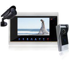 "7"" Wired Night Visual Video Door Phone Doorbell Intercom System Home Security TFT Monitor Waterproof with CCTV Camera"
