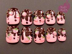#chocolate #yummy #nails #3d #nailart