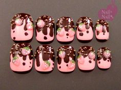#chocolate #yummy #nails #3d #nailart
