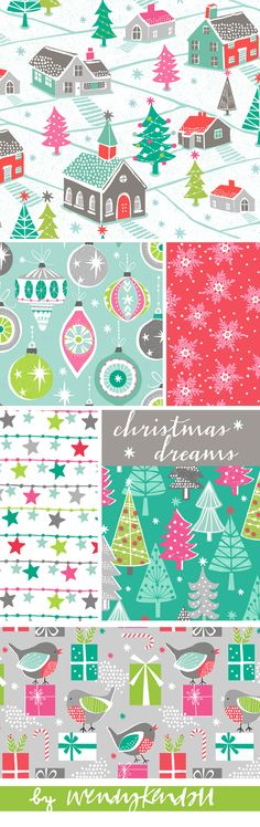 wendy kendall designs – freelance surface pattern designer » christmas dreams