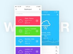 Weather App Concept by TushiT