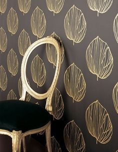 Image of the Week: Leafy Gold | HomeSource Blog #gold #interiordesign