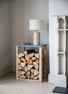 The sophisticated Clockhouse Log Table not just stores logs, but doubles up as a handy side table