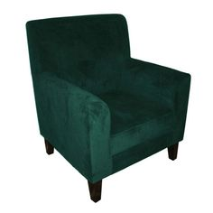 Medan Teal Velvet Accent Chair, 2402000 - Lounge Chairs