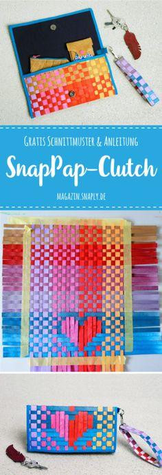 FREEBIE! Gratis Schnittmuster + Anleitung für eine SnapPap Clutch