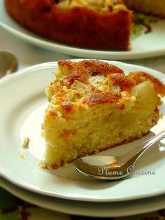 Gâteau original aux poires... Pour la visite de l'une de mes amies cet après-midi là, j'avais envie de la recevoir avec un gâteau aux fruits. Mon choix s'est vite porté sur les poires puisque mon p...