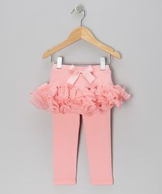 Take a look at this Coral Curly Tutu Skirted Leggings - Infant, Toddler & Girls by Just Fab Girls on #zulily today!
