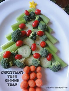 Creative Kid Snacks: Christmas Tree tray ¸.•♥•.¸¸¸ツ