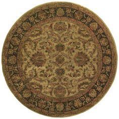 Attractive Ancient Treasures Round Area Rug Tuscan Style