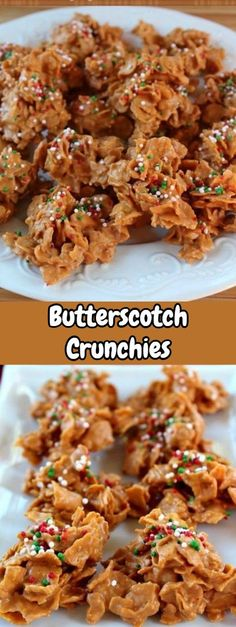 If you love butterscotch, and you love peanut butter, than you are going to LOVE these! These delicious little crunchies are so good with both butterscotch and peanut butter together! Candy Recipes, Holiday Recipes, Snack Recipes, Dessert Recipes, Cooking Recipes, Christmas Recipes, Delicious Desserts, Yummy Food, Healthy Food