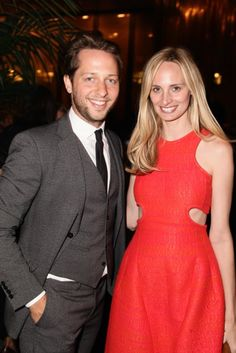 : Derek Blasberg had a hot date in a scarlet-clad Lauren Santo Domingo at the WSJ Magazine bash.